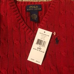 Polo by Ralph Lauren Jackets & Coats - SOLD Brand new  red polo vest in time for fall